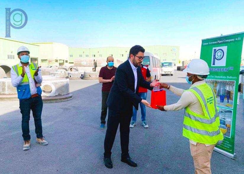 Eng. Hamid Alipoorian (Executive Manager) awarded Mr. Khalipodo